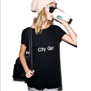 • {WILDFOX} City Girl Tee •